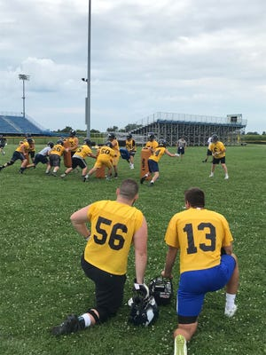 River Valley holds a preseason football practice on opening day on July 30. The Vikings will host Upper Sandusky Friday at 7 p.m. for the season opener.