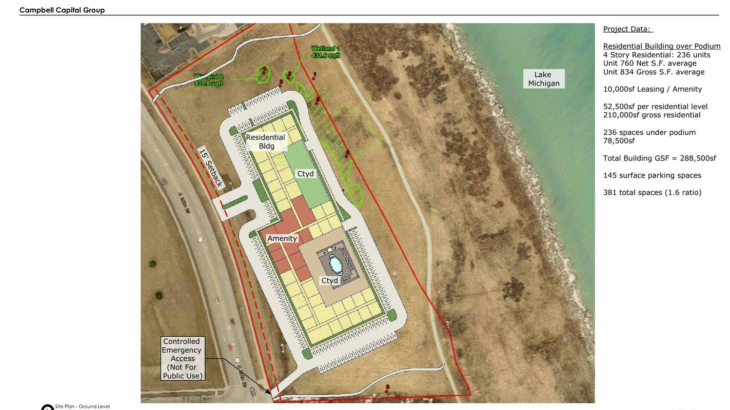 Luxury multifamily apartments planned for st francis lakefront