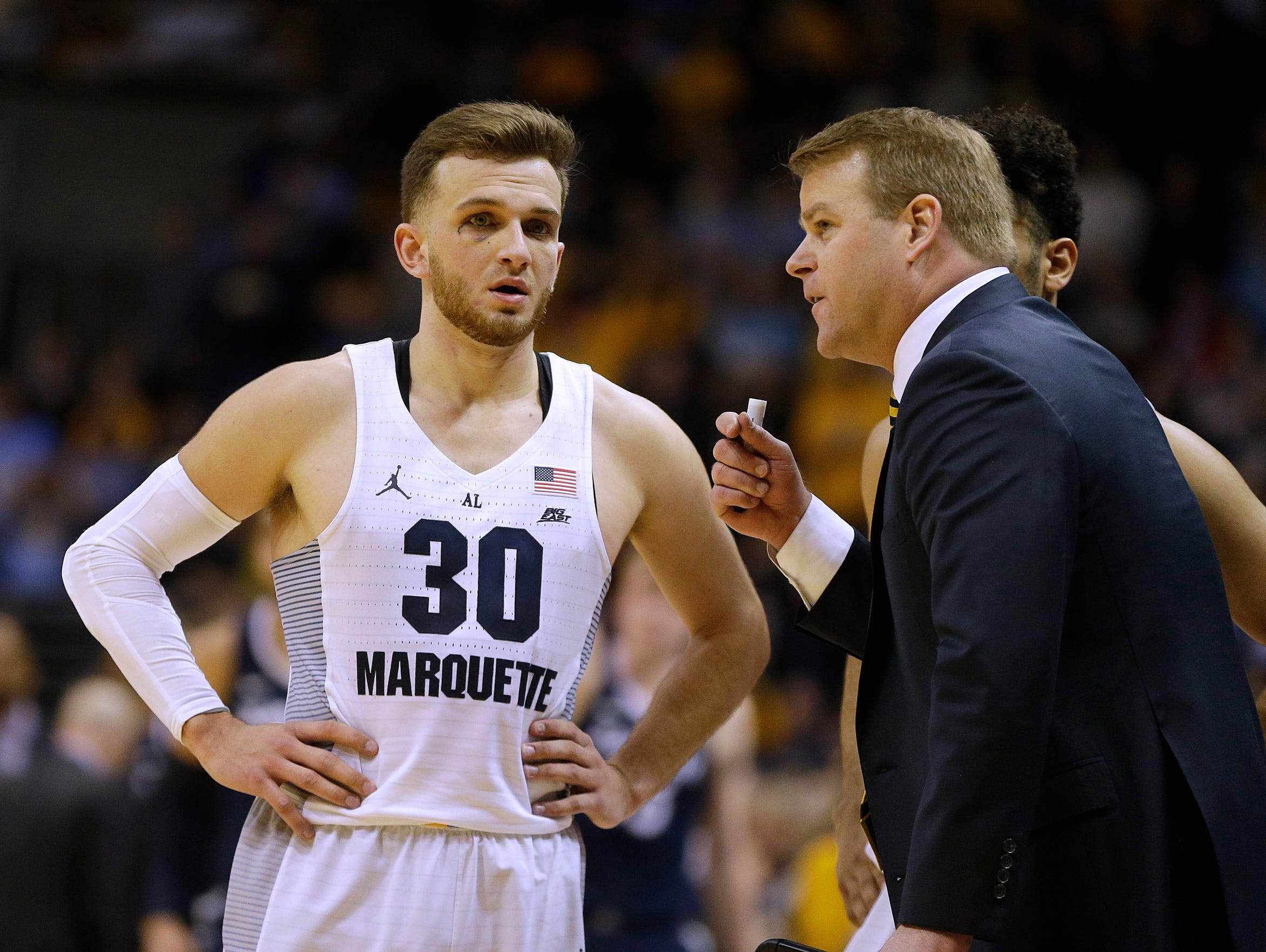 Marquette coach Steve Wojciechowski has given former Golden Eagles guard Andrew Rowsey advice about playing professional basketball overseas.