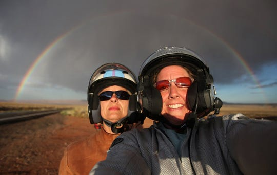 Mandi Wright (right) and Barbara Nicholas in the Marble Canyon in August 2009.