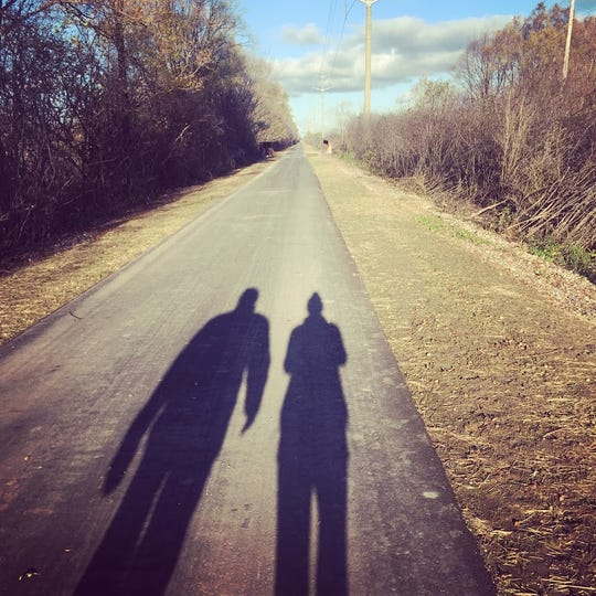 Ruth Lunz took this photo of her and father, John, on one of their first walks after she was released from the hospital.