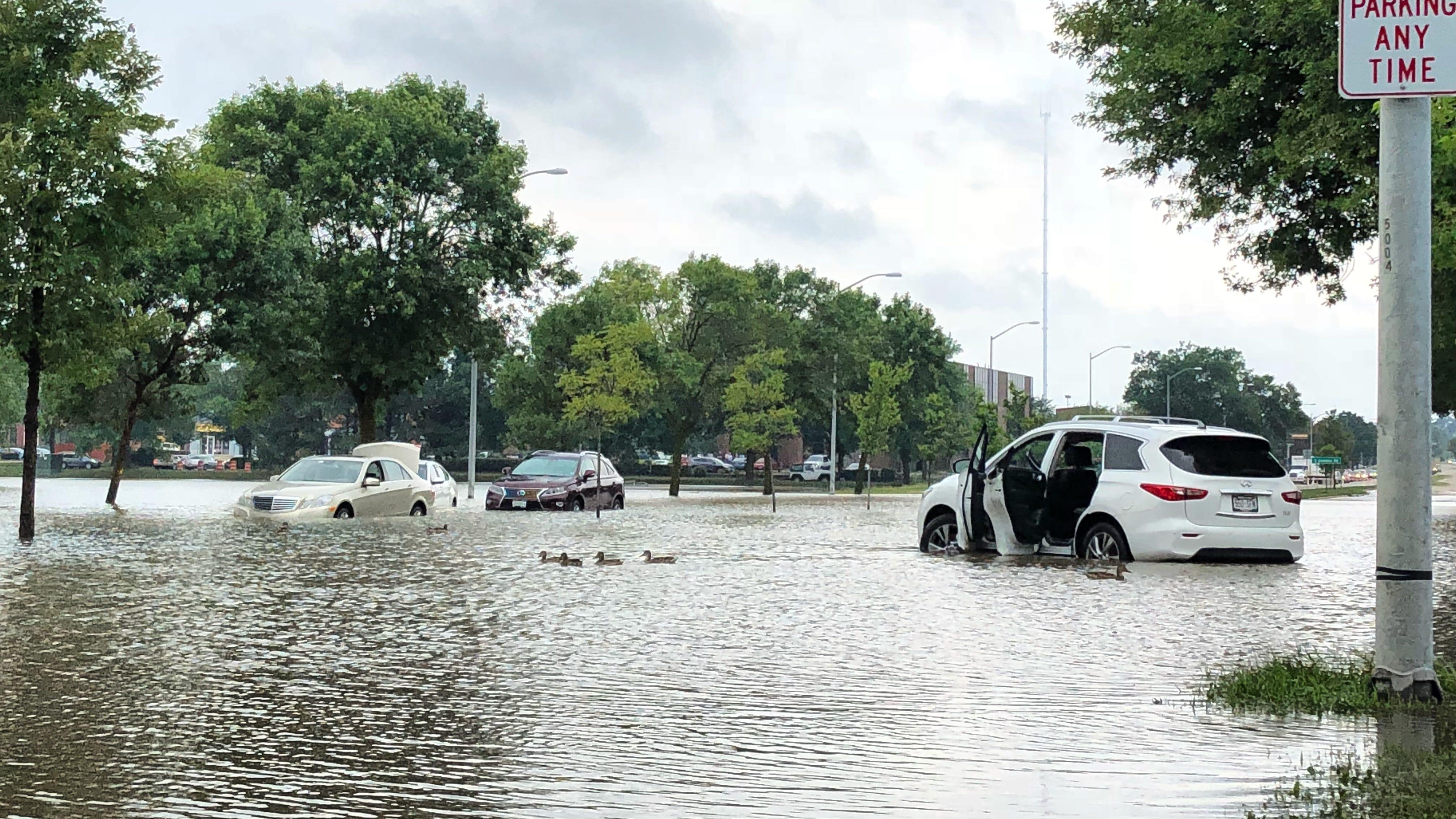 Near Record Rain Swamps Dane County Madison Killing A Motorist Widespread Flooding Reported