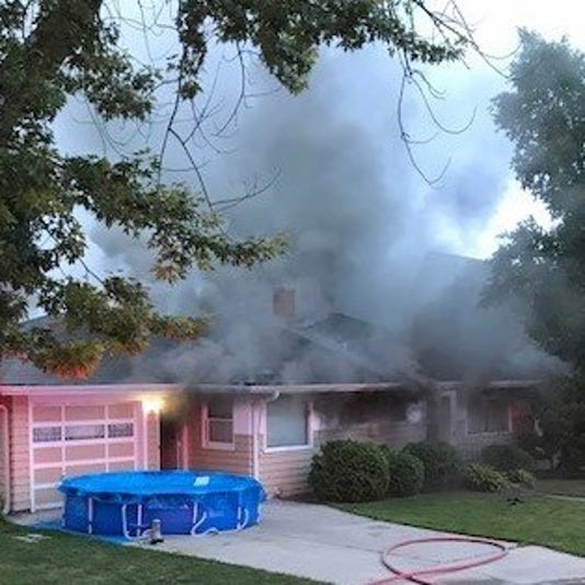 Fire damages Grafton home