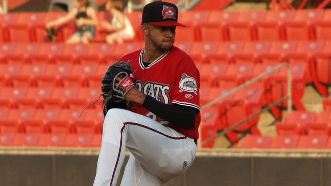 Devin Williams is pitching for the Class A Carolina Mudcats this season.