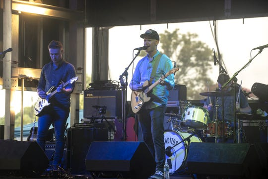 The band Fire Mountain out of Troy performs. Hog Days of Summer returned for its second year at the Union Station Train Shed in Montgomery on Saturday, Aug. 18, 2018.