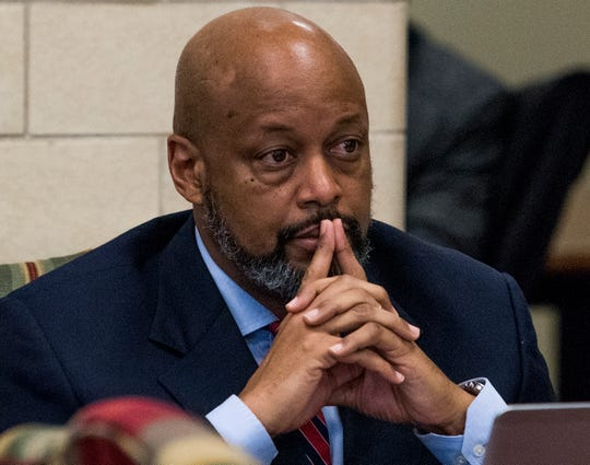 City Councilman William Green, Jr., during a Montgomery City Council work session at city hall in Montgomery, Ala. on Monday August 21, 2018.