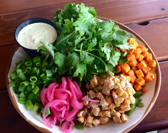 """The """"Fresh Farm Bowl"""" at Holler & Dash Biscuit House."""