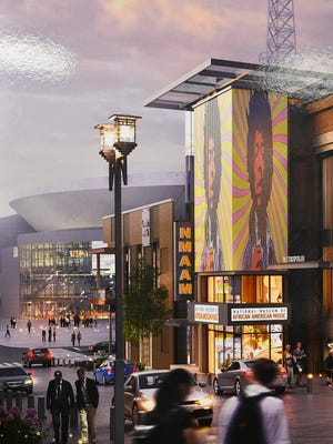 An artist rendering of the National Museum of African American Music that will be located in the new 5th and Broadway Tuesday Aug. 21, 2018, in Nashville, Tenn.