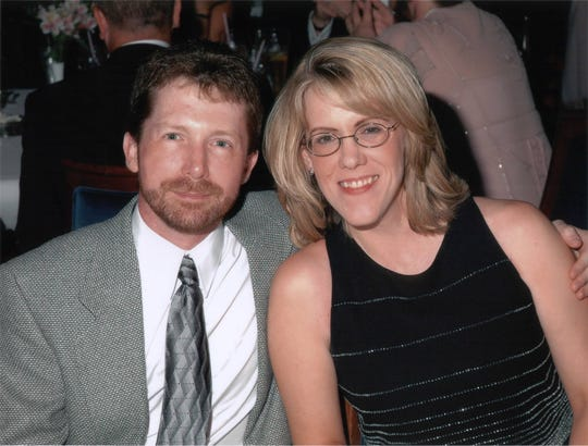 Former Channel 4 Snowbird actor Steven Good and his wife, Jennifer, in 2006 on an anniversary cruise