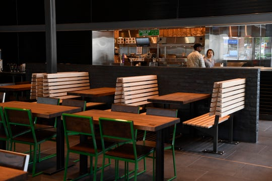 The interior of the new Shake Shack store at Hill Center in Green Hills, Nashville, Tenn., Tuesday, Aug. 21, 2018.