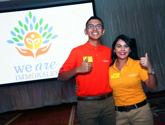 TIF students Mark Trejo and Jennifer Flores. Their successes were highlighted during the 2015 Charity Classic Celebration Fund A Dream auction.