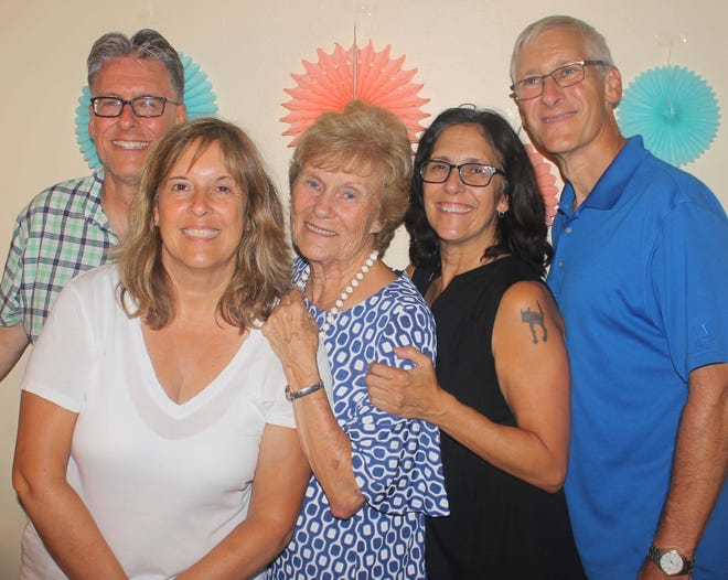 MaryAnn Cassidy's children Mike Aaron, Linda Meere, Pam Aaron and Rick Aaron threw her a 80th birthday celebration.