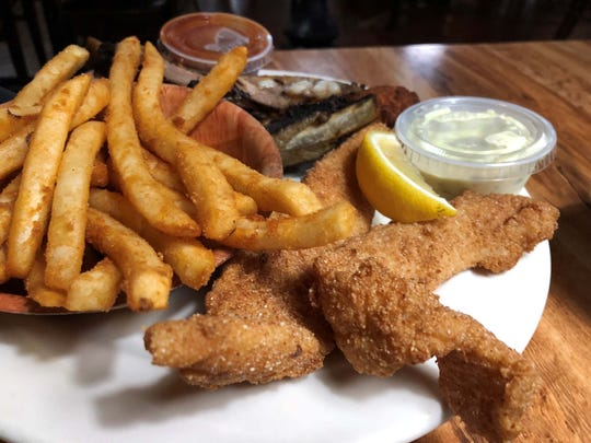 The catfish and ribs platter at Cracklin' Jacks, Naples.