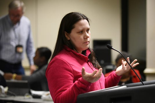 Jessica Schutte at Paterson Board Of Education meeting