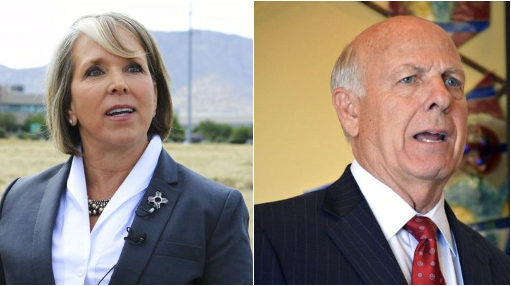 New Mexico governor candidates: Democrat Michelle Lujan Grisham, left, and Republican Steve Pearce.