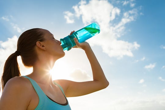 To stay hydrated and perform your best, drink before, during and after a run.