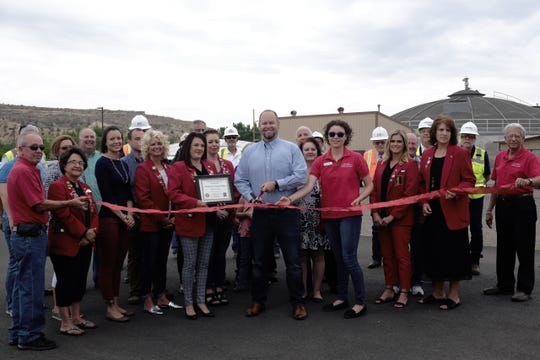 The Redcoats went out Aug. 3 for a ribbon cutting at the Water RC-Waste Water Treatment Plant at 1395 S. Lake St.