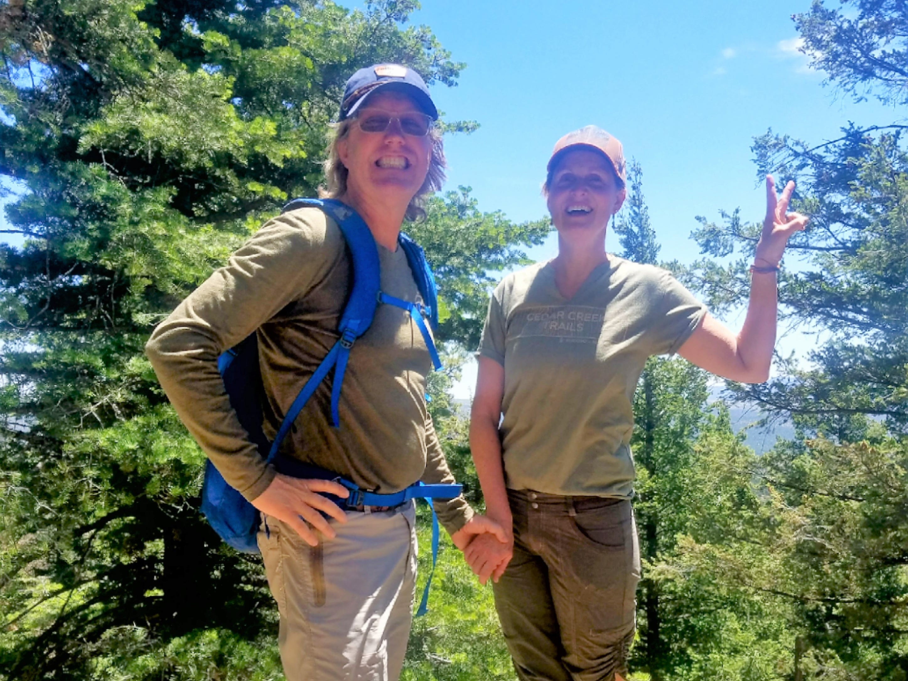 Happy Camper: Hiking, laughing, college memories but no wildlife