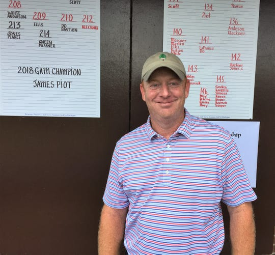 Catholic Central golf coach Mike Anderson tied for third in the GAM Men's Championship held at Meadowbrook Country Club.