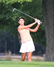 Northville sophomore Katelyn Tokarz shot a 2-over 74 for the Mustangs in the Sentech Services Invitational at Kensington Metropark.