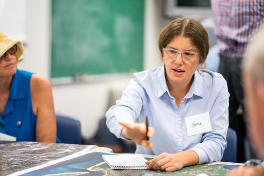 CivicCon speaker Gena Wirth, a design principal at SCAPE Landscape Architecture DPC, held a workshop in August on how to make the city's waterfront more resilient.