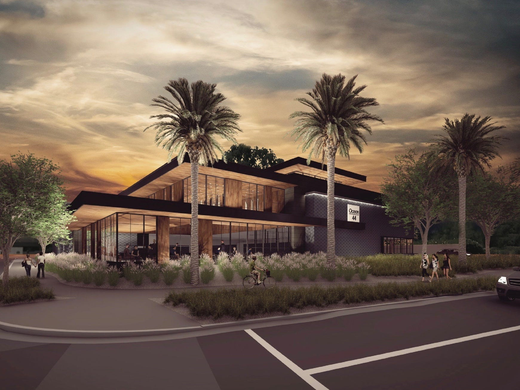 Exterior rendering of the forthcoming Ocean 44 in Scottsdale.