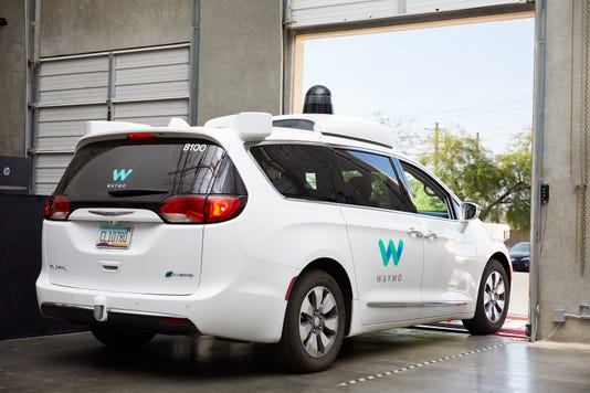 Waymo Vehicle Leaving Depot