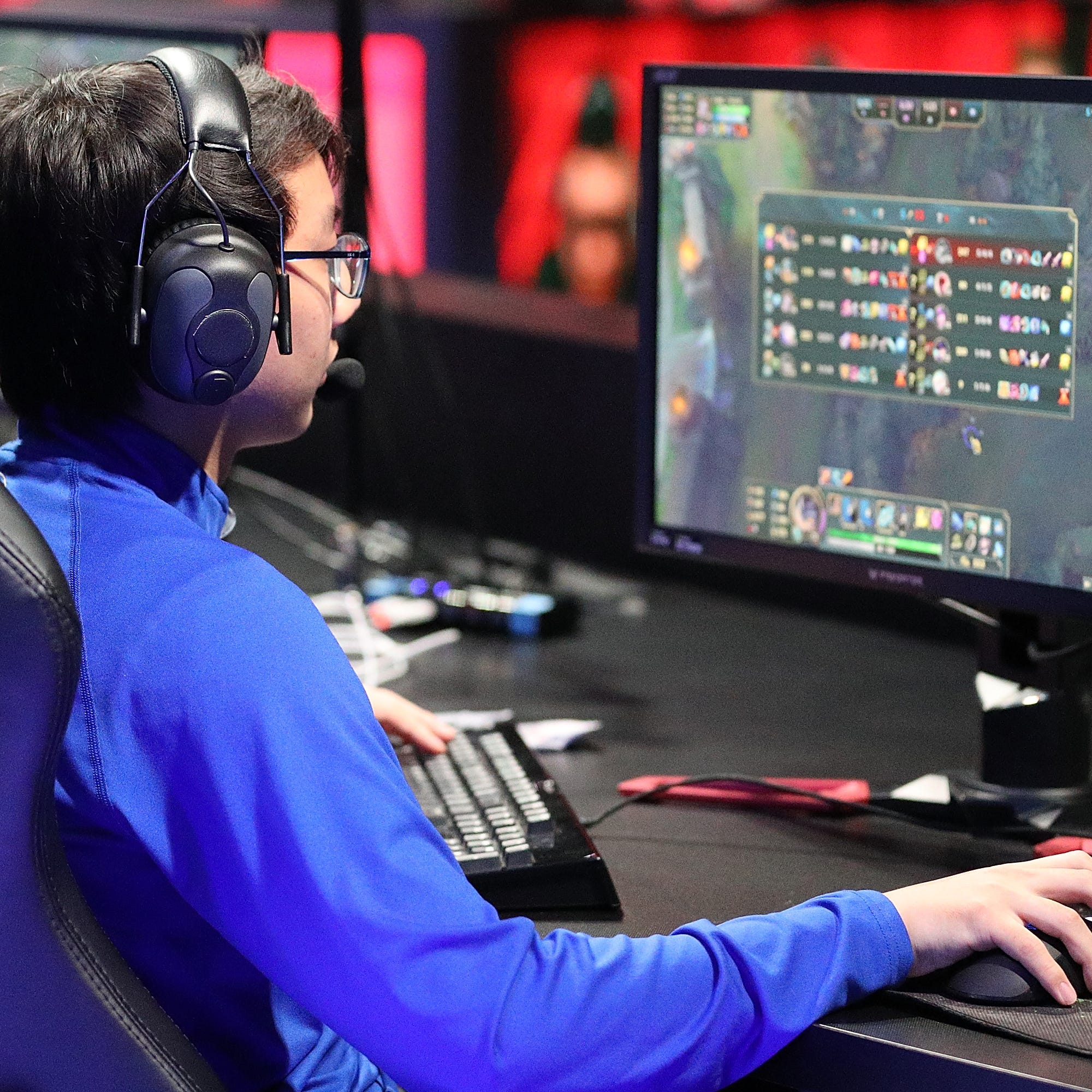 SANTA MONICA, CA - MAY 28:  Alvin Ngo (Gaow Gaiy) of the University of Toronto at the League of Legends College Championship match between Maryville University and the University of Toronto at the NA LCS Studio at Riot Games Arena on May 28, 2017 in Santa Monica, California.