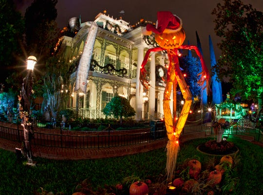 "Haunted Mansion Holiday brings the frightfully fun cheer of ""Tim Burton's Nightmare Before Christmas"" to the Disneyland Resort."