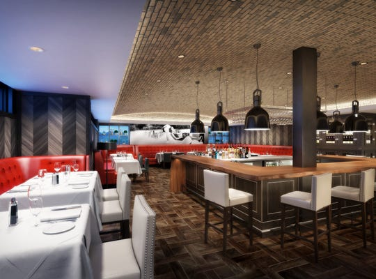 A rendering of the forthcoming addition to Steak 44 in Phoenix.