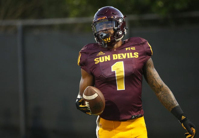 N'Keal Harry (1) was a high school football standout at Chandler High.