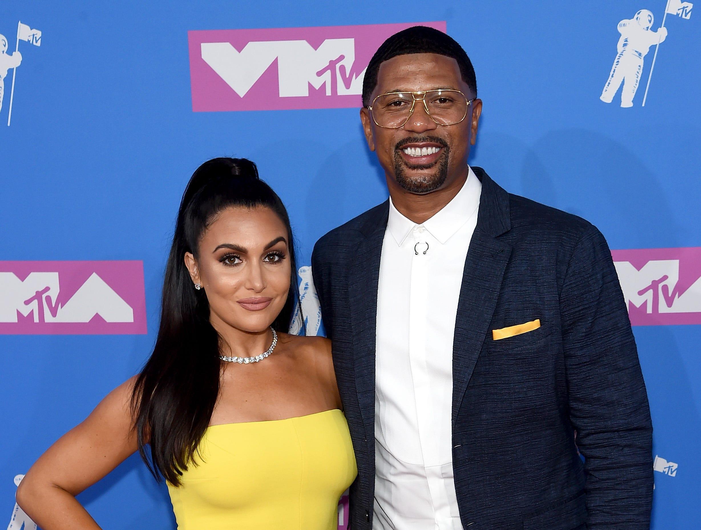 Molly Qerim y Jalen Rose asisten a los MTV Video Music Awards 2018 en el Radio City Music Hall el 20 de agosto de 2018 en la ciudad de Nueva York.