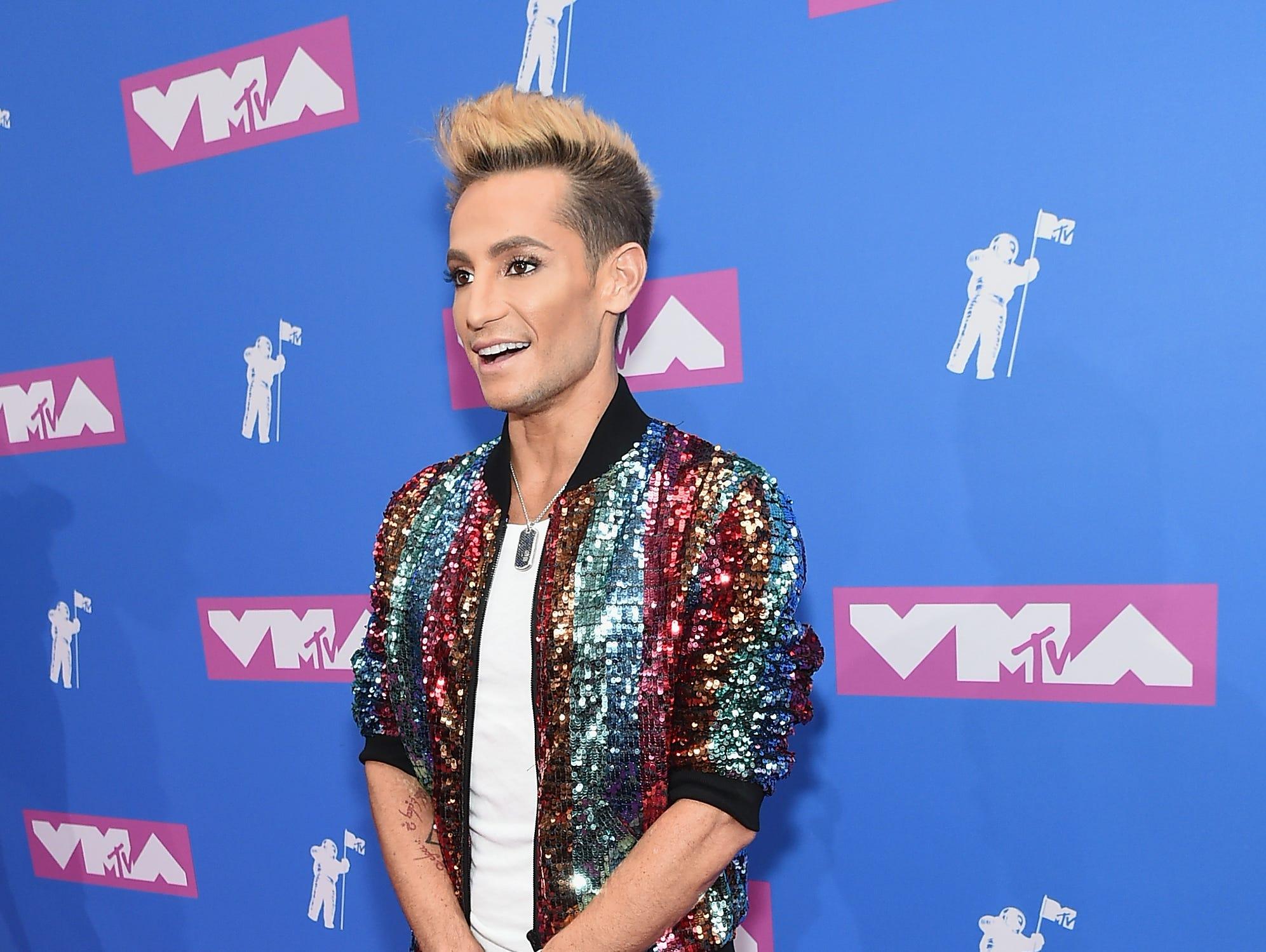 Frankie J. Grande asiste a los MTV Video Music Awards 2018 en el Radio City Music Hall el 20 de agosto de 2018 en la ciudad de Nueva York.