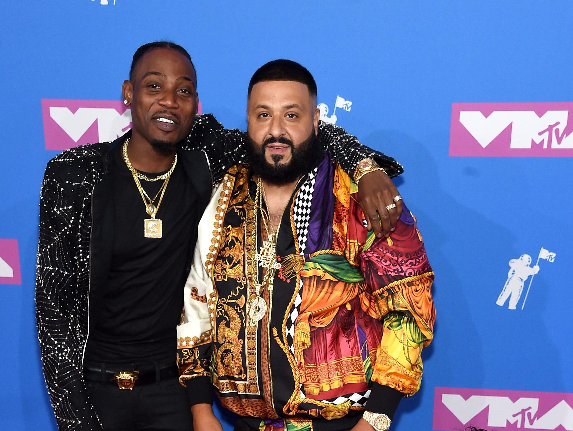 DJ Khaled y  Asahd Khaled asiste a los MTV Video Music Awards 2018 en el Radio City Music Hall el 20 de agosto de 2018 en la ciudad de Nueva York.