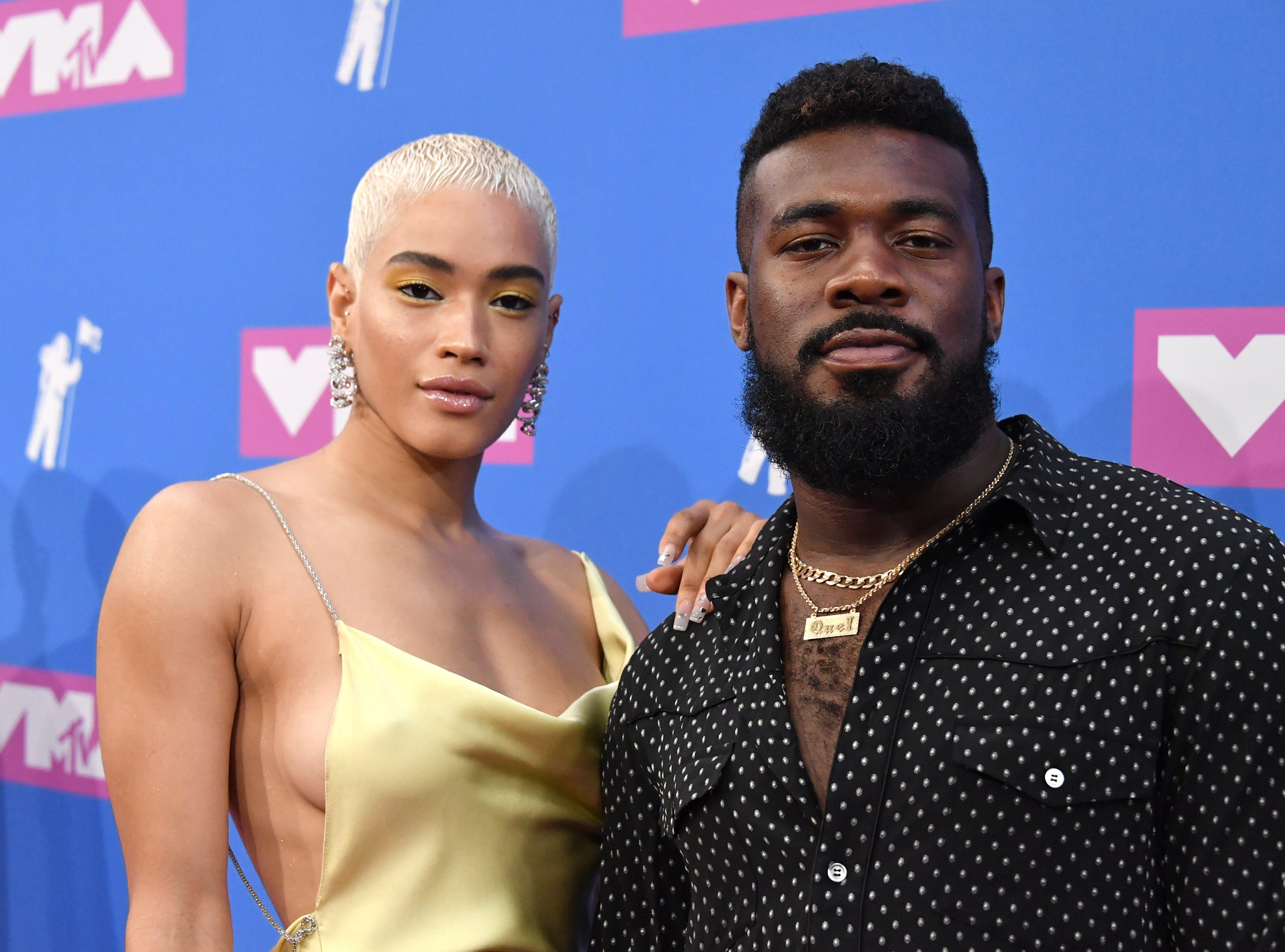Mette Towley y JaQuel Knight  asisten a los MTV Video Music Awards 2018 en el Radio City Music Hall el 20 de agosto de 2018 en la ciudad de Nueva York.