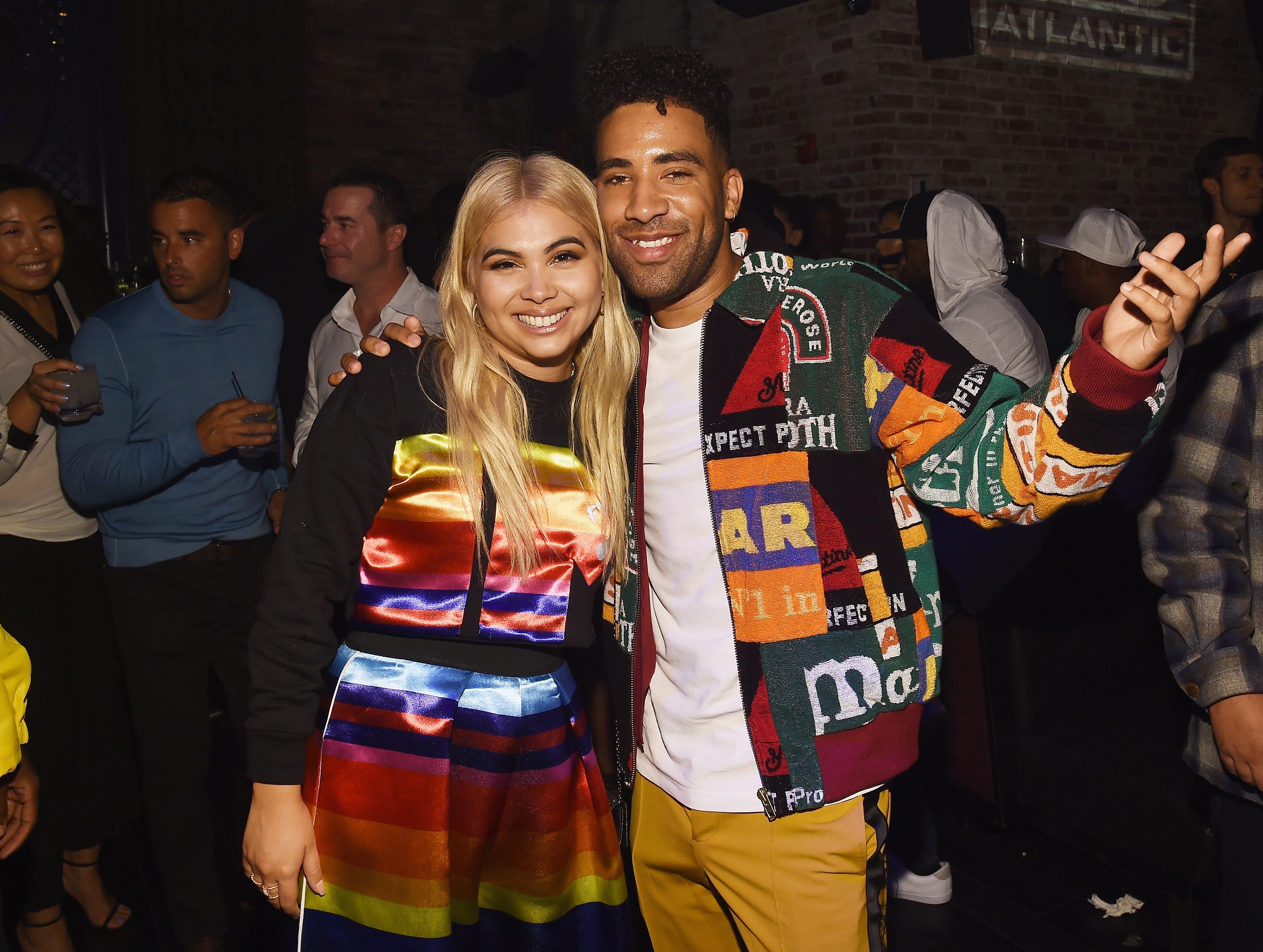 Hayley Kiyoko y KYLE asisten a la celebración de Atlantic Records por los VMA de 2018 el 20 de agosto de 2018 en TAO Downtown en la ciudad de Nueva York.