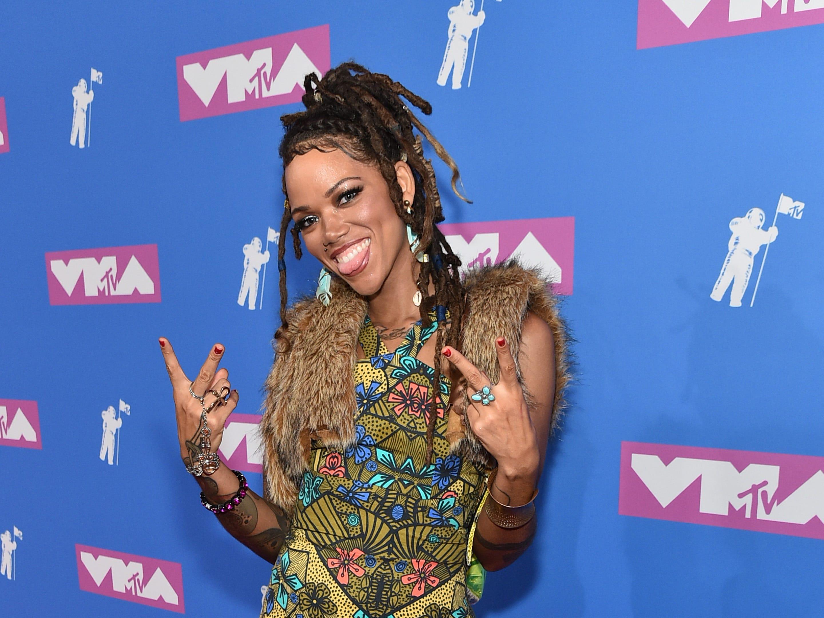 Melody Mitchell asiste a los MTV Video Music Awards 2018 en el Radio City Music Hall el 20 de agosto de 2018 en la ciudad de Nueva York.