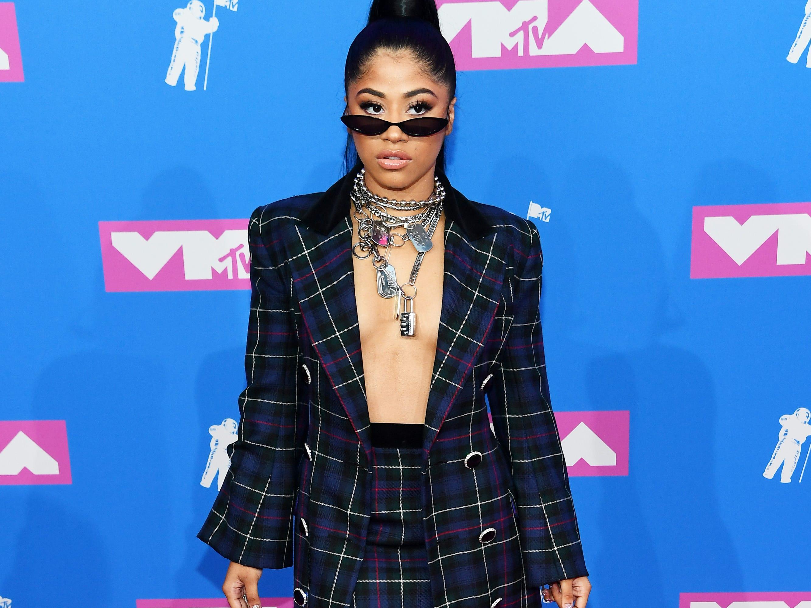 Hennessy Carolina asiste a los MTV Video Music Awards 2018 en el Radio City Music Hall el 20 de agosto de 2018 en la ciudad de Nueva York.