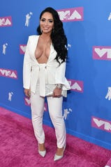 Angelina Pivarnick at the 2018 MYV Video Music Awards.