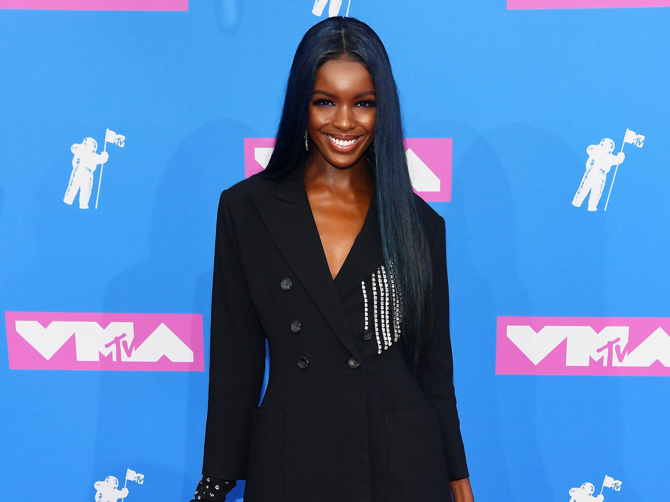 Leomie Anderson asiste a los MTV Video Music Awards 2018 en el Radio City Music Hall el 20 de agosto de 2018 en la ciudad de Nueva York.
