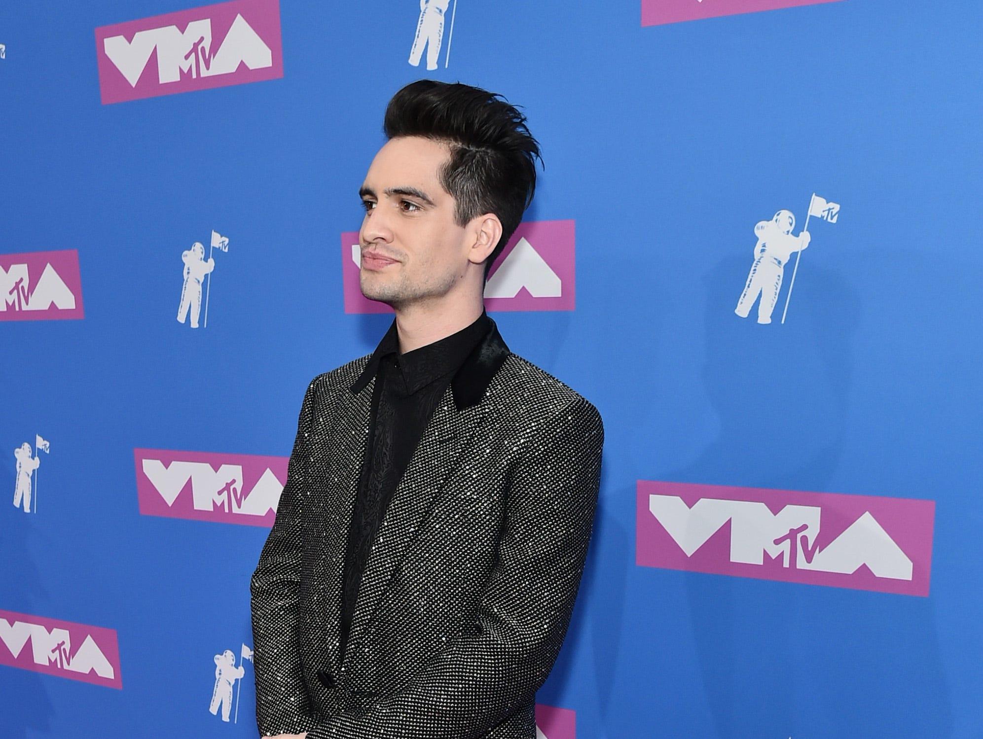 Brendon Urie asiste a los MTV Video Music Awards 2018 en el Radio City Music Hall el 20 de agosto de 2018 en la ciudad de Nueva York.