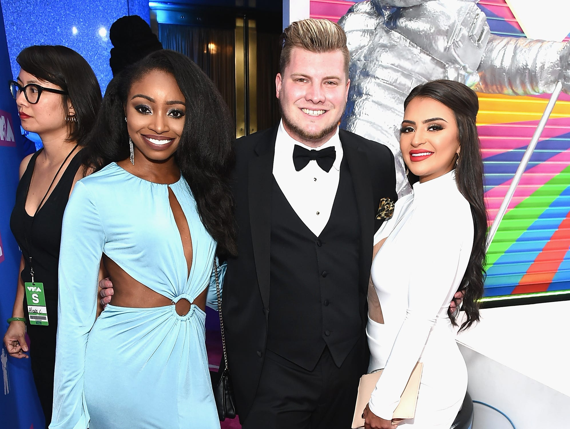 Candice Rice, Codi Butts y Nilsa Prowant de Floribama Shore asisten a los MTV Video Music Awards 2018 en el Radio City Music Hall el 20 de agosto de 2018 en la ciudad de Nueva York.