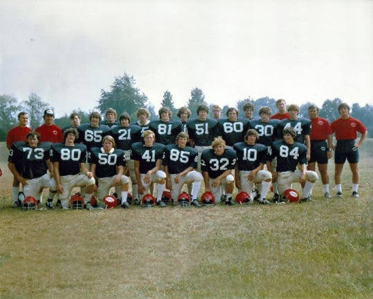 The 21 seniors on the 1973 Lebanon High football team helped the Cedars to a 22-0 victory over Cedar Crest in Cedar Bowl II.