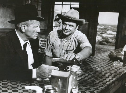 7 Borgnine Bullies Spencer Tracy In Bad Day At Black Rock 1955 Mgm Publicit