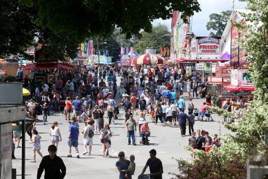 Opening Day at the 2018 Dutchess County Fair in Rhinebeck on August 21 2018.