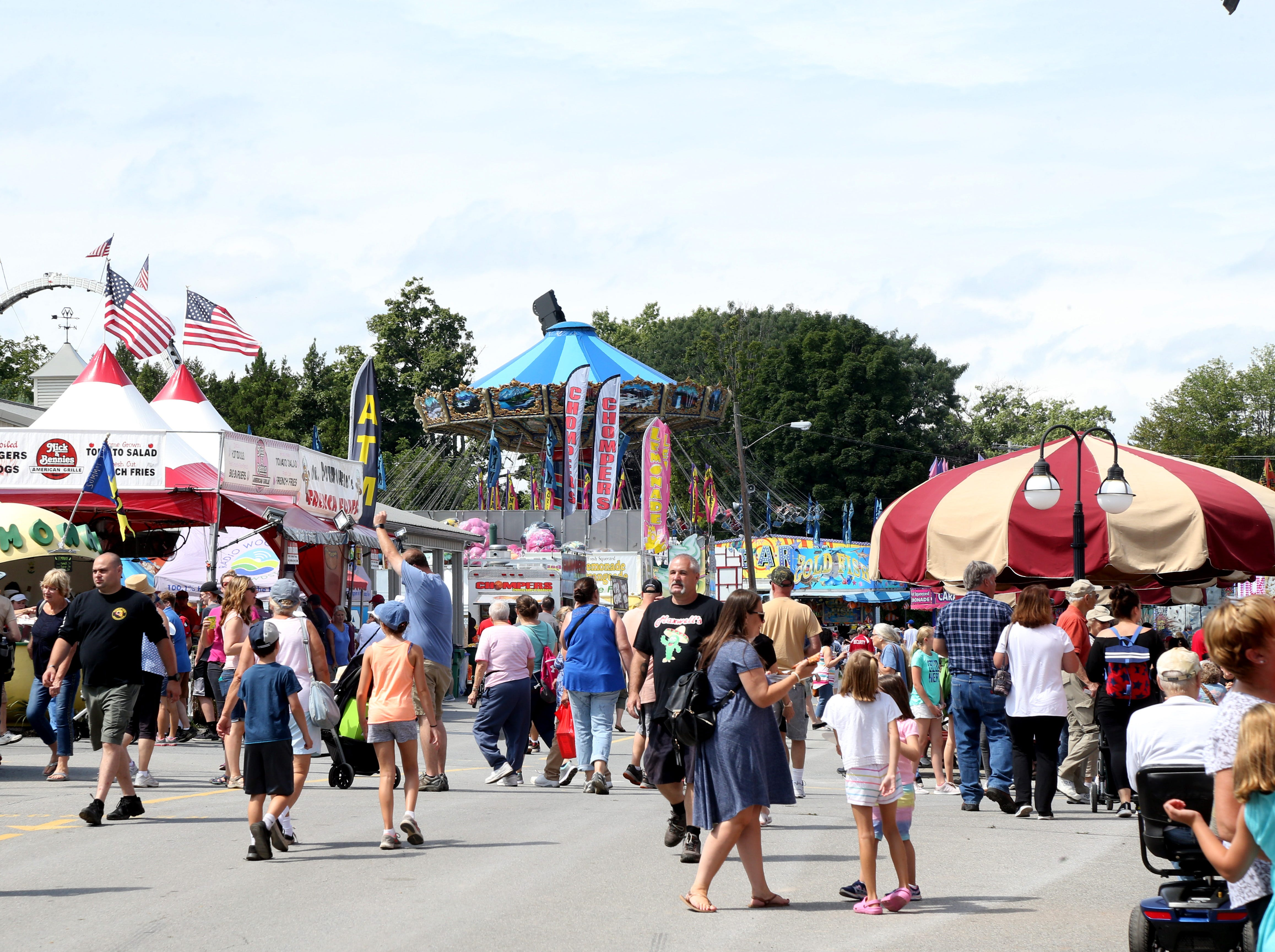 Opening day at the Dutchess County Fair in Rhinebeck on August 21 2018.