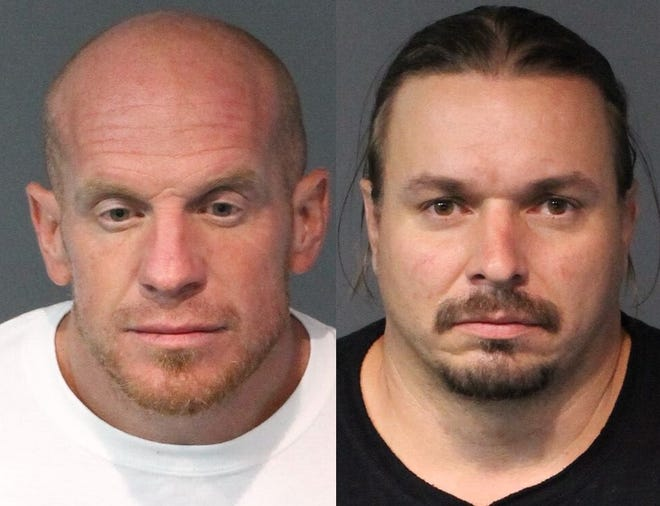 Michael Robinson (left) and Matthew Wiley were arrested Aug. 20, 2018. They are suspected of stealing from bars in the Reno-Sparks area.