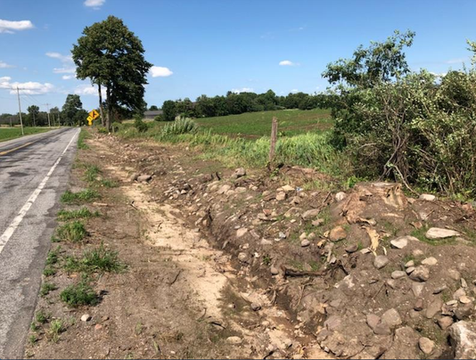 Mumford Road Razed Wall Ruekberg farm