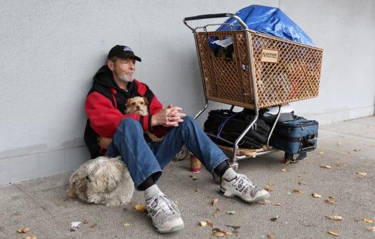 Salem Homeless downtown Steven Harrington