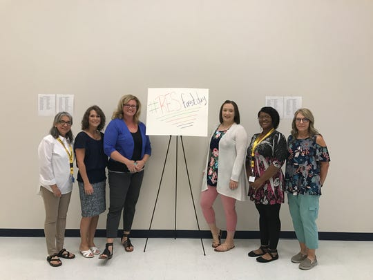 The staff at Premier High School awaited the first students on Tuesday, Aug. 21.